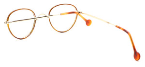 Panto NHS Style Spectacles By Beuren With Saddle Bridge And Demi Blonde Rims 42mm