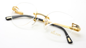 24kt Gold Plated Rimless Eywear By Hilton At The Old Glasses Shop Ltd