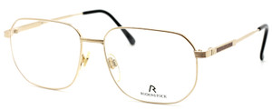 Vintage Rodenstock R24.55 Square Style Pale Gold Eyewear At The Old Glasses Shop