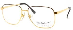 Vienna Line 1710 Gold & Tortoiseshell Titanium Glasses At www.theoldglassesshop.co.uk
