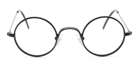 Small True Round Black Vintage Style Eyewear By Beuren At The Old Glasses Shop