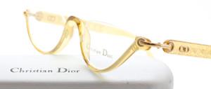 Vintage Designer Christian Dior 3021 Acrylic Half Moon Eyewear At The Old Glasses Shop