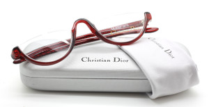 Vintage Christian Dior 3020 Designer Half Moon Red Eyewear At The Old Glasses Shop