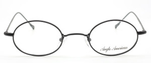 Vintage Style Anglo American 41P MABK Matt Black Oval Spectacles From The Old Glasses Shop