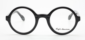 Vintage Round Style Anglo American 221 Black Acetate Eyewear At The Old Glasses Shop Ltd