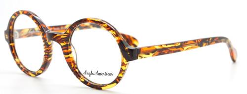 Anglo American 221 EVO TOWO Fiery Orange & Tortoiseshell Acetate Eyewear From www.theoldglassesshop.co.uk