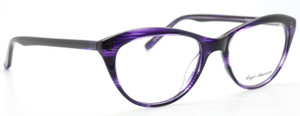 Anglo American FAYETTE Eyewear In Stripey Purple And Black At The Old Glasses Shop