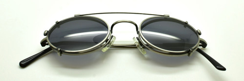 Hand Made Sunclip To Match The 1520 Beuren Frame In Antique Silver At www.theoldglassesshop.co.uk