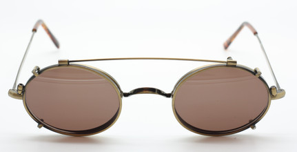 Beuren 1720 Vintage Oval Frame  NOW WITH HAND MADE MATCHING CLIP ON SUNGLASSES At The Old Glasses Shop Ltd