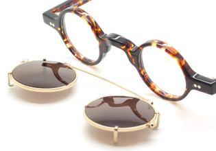 Preciosa 703 17 Small Eyewear With Hand Made Matching Clip On Sunglasses At The Old Glasses Shop Ltd