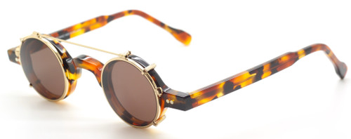 Preciosa 703 24 Small Round Acetate Eyewear With Matching Sun Clip At The Old Glasses Shop Ltd