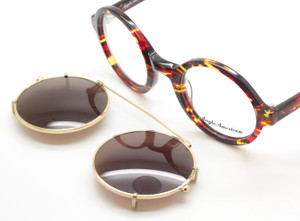 Vintage Style Anglo american 221 TOWR Acetate Eyewear With Matching Sun Clip At The Old Glasses Shop Ltd