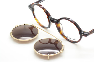 Anglo American True Round 400 Dark Tortoiseshell Glasses With Matching Sun Clip At The Old Glasses Shop Ltd