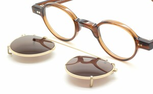 Hand Made Preciosa 704 53 Brown Acetate Eyewear With Matching Sun Clip At The Old Glasses Shop Ltd