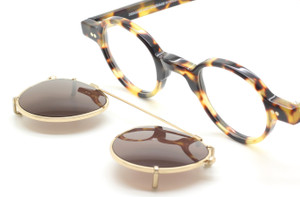 Hand Made In Holland Preciosa 704 25 Small Round Style Eyewear With Matching Sun Clip At The Old Glasses Shop Ltd