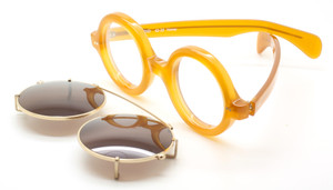 True Round Thick Rimmed Acetate Eyewear With Matching Sun Clip At The Old Glasses Shop Ltd