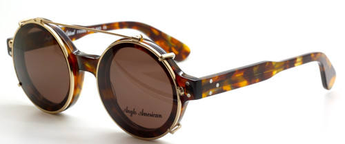 Anglo American 180E HYGR with hand made matching sun clip at The Old Glasses Shop Ltd