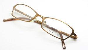 Ralph Lauren RL1375 gold metal rectangle designer vintage frames