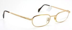 DOLCE & GABBANA DG 316 Vintage Rectangular Designer Gold Eyeglasses