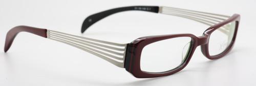 X EYES 48 Burgundy coloured acrylic glasses from www.theoldglassesshop.co.uk