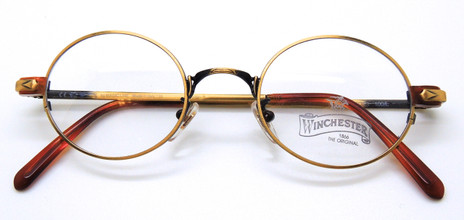 Italian Round style vintage eyewear from www.theoldglassesshop.co.uk