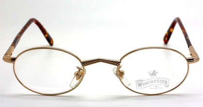 Winchester Dillon Small Oval Shiny Gold Eyewear At The Old Glasses Shop