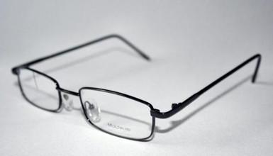 Multipleyes Modern Rectangular Metal Glasses Frames In Black At www.theoldglassesshop.co.uk