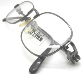 Last Pair Jean Paul Gaultier 6107 Cogs Gunmetal Designer Prescription Glasses Frames