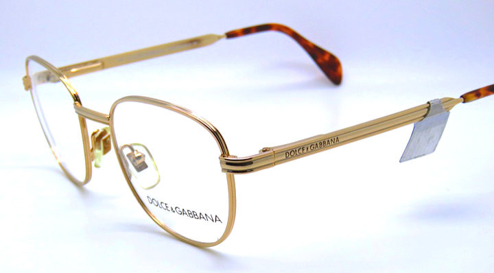 3cd0adb3ee Dolce   Gabbana DG 306 Gold Vintage Designer Prescription Glasses Eye  glasses