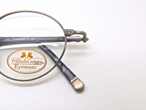 WILLIS & GEIGER American Classics Pinnacle 1 Vintage Eyeglass Frames In Antique Pewter 47mm lens