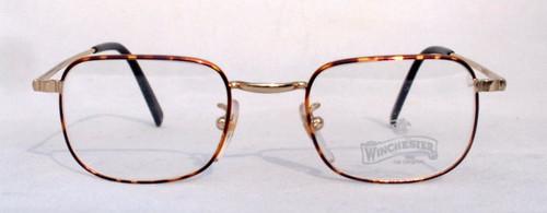 Winchester Redcloud almost square vintage designer turtle metal glasses