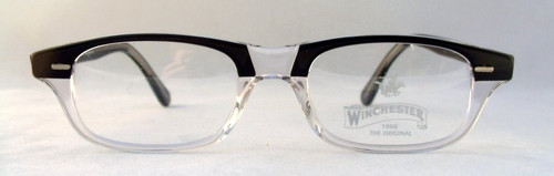 Winchester Mesa Vintage Designer Clear and Black Spectacles from www.theoldglassesshop.com