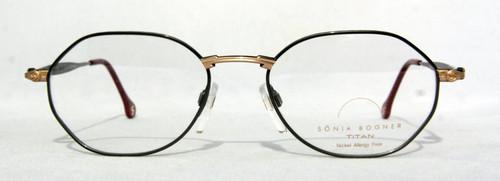 Sonia Bogner 7526 vintage designer hexagonal grey metal frames