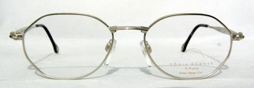 Sonia Bogner 7526 vintage designer hexagonal silver metal frames