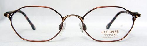 Sonia Bogner 7535 TITAN vintage designer hexagonal bronze metal frames