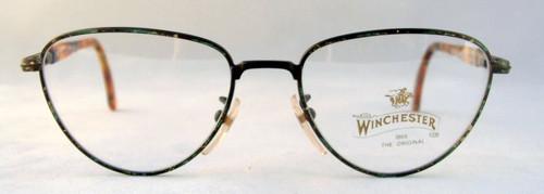 Winchester Soledad Vintage Designer Green Multi Metal Framed Glasses