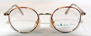 Ralph Lauren Polo Classic 137  Gold Vintage Round Desginer Frames