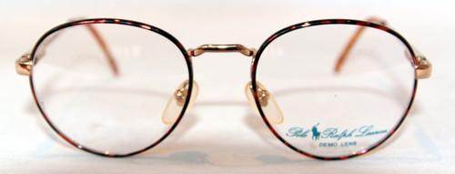 Ralph Lauren Polo Prep 8/N Gold & Red Multi Vintage Round Desginer Frames