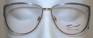 Glorious Gold & Blue Vintage glasses by Tura Eyewear