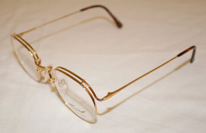 Tura 257 Gold Finish Vintage Panto Shaped Designer Spectacles