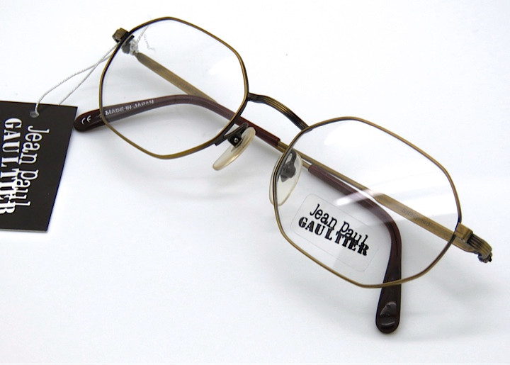 c10c4ae66e JEAN PAUL GAULTIER 2179 Hexagonal Frames in Smoke Gold - The Old ...