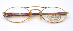 Gold coloured classeic Willis and Geiger Hemingway old fashioned spectacles