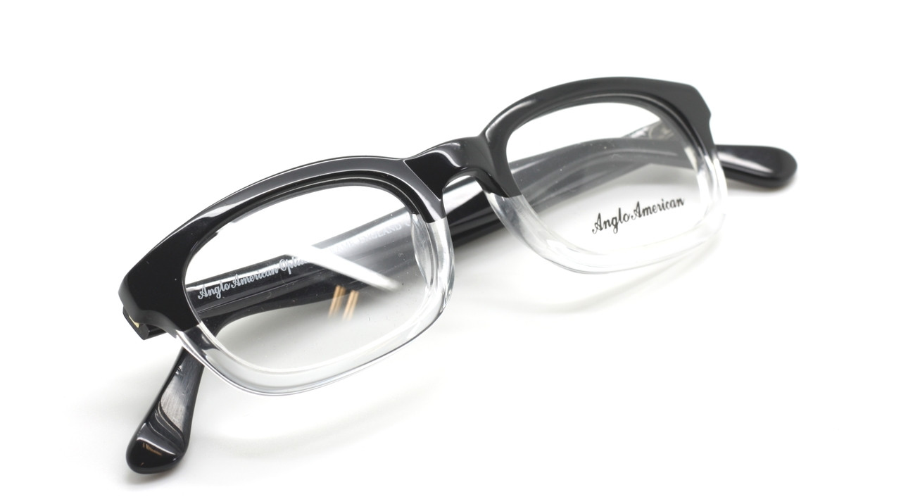 ca467dcee6 Anglo American Byker BCTT Black and Crystal Acrylic Eyewear