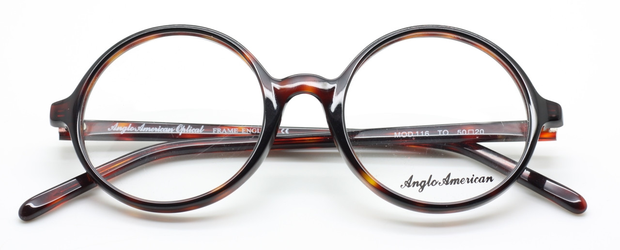 09a4be19549 Anglo American Eyewear 116 Round Prescription Glasses TO