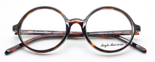 Anglo American 116 TO round acrylic tortoiseshell frame from www.theoldglassesshop.co.uk