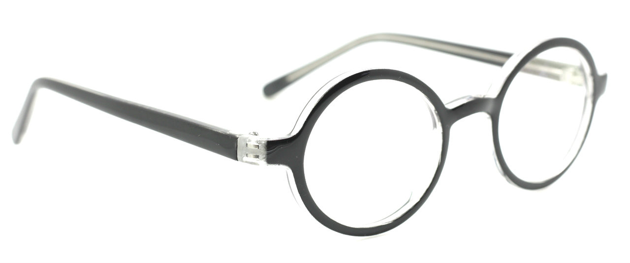 ba6f41a185ee Classic Round Style Prescription Eyewear UNI Glasses in Black   Clear