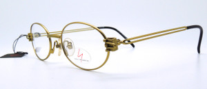 Yamamot 4109 Oval Off Gold Glasses At The Old Glasses Shop