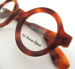 Thick rimmed, round Anglo American 180E DBYE frames at The Old Glasses Shop Ltd