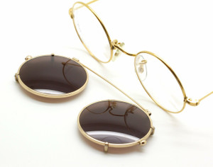 Vintage Hiton 49mm Round Eyewear With Matching Hand Made Sun Clip Only At The Old Glasses Shop Ltd