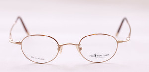 gold polo 445 round frames front
